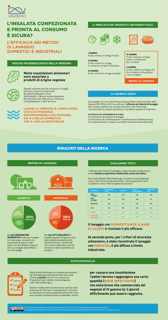 infografica insalata Istituto Zooprofilattico Sperimentale